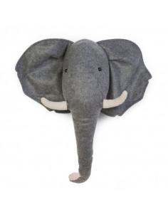 Cabeza de peluche Elefante...