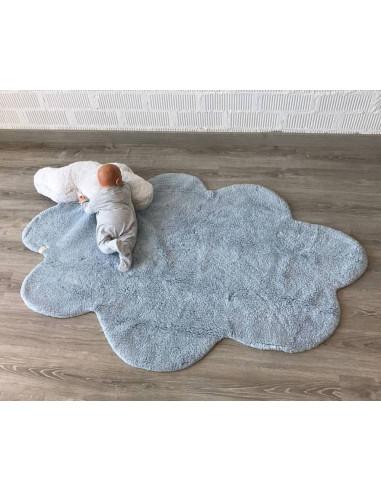 Alfombra lavable Puffy dream azul...