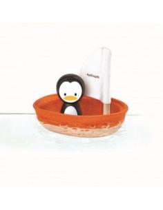 Barco de vela de madera...