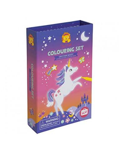 Set de colorear Unicornios - Tiger tribe