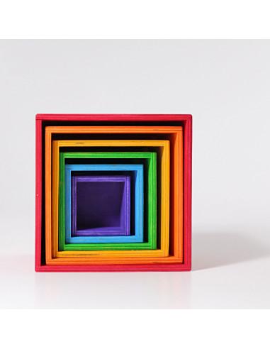 Cubos apilables arcoiris Grimms