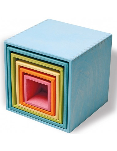 Cubos apilables pastel Grimms