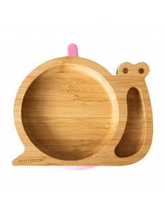 Plato Bambu Caracol con...