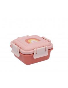 Caja almuerzo Arcoiris Rosa