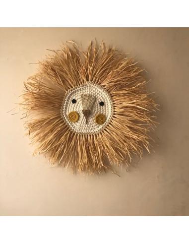 León de Crochet Mustard- Hecho a mano