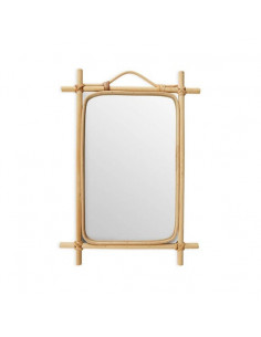 Espejo rectangular de bambú