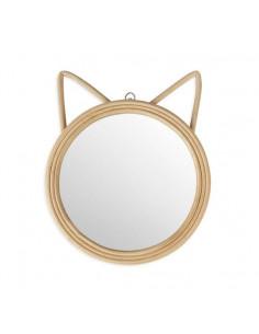 Espejo de ratán Cat lover