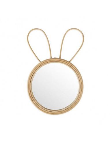 Espejo de ratán Rabbit love