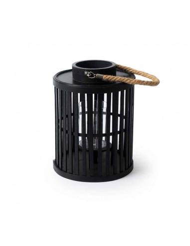 Farolillo de bambú. Color negro