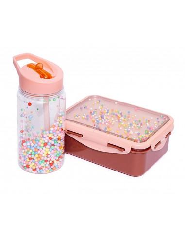 Fiambrera infantil con bolitas - Coral