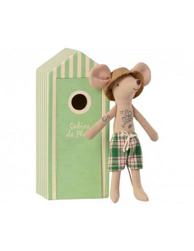 Papa ratón con caseta de playa - Maileg