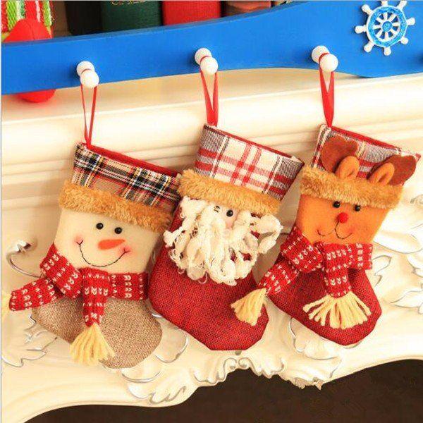calcetines rojos de navidad