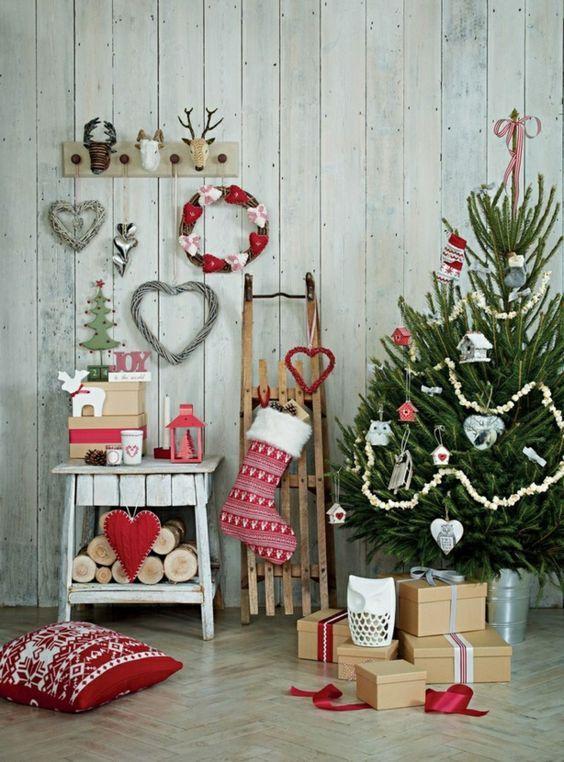 decoracion de navidad de estilo nórdico: