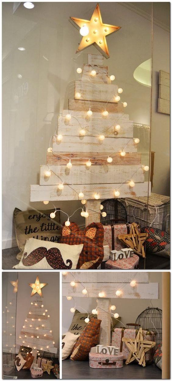 decoración de navidad con palets