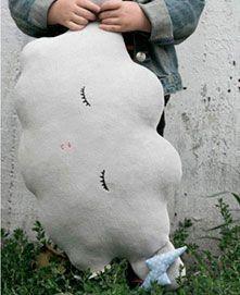 nube infantil cojin decoración juguete regalo