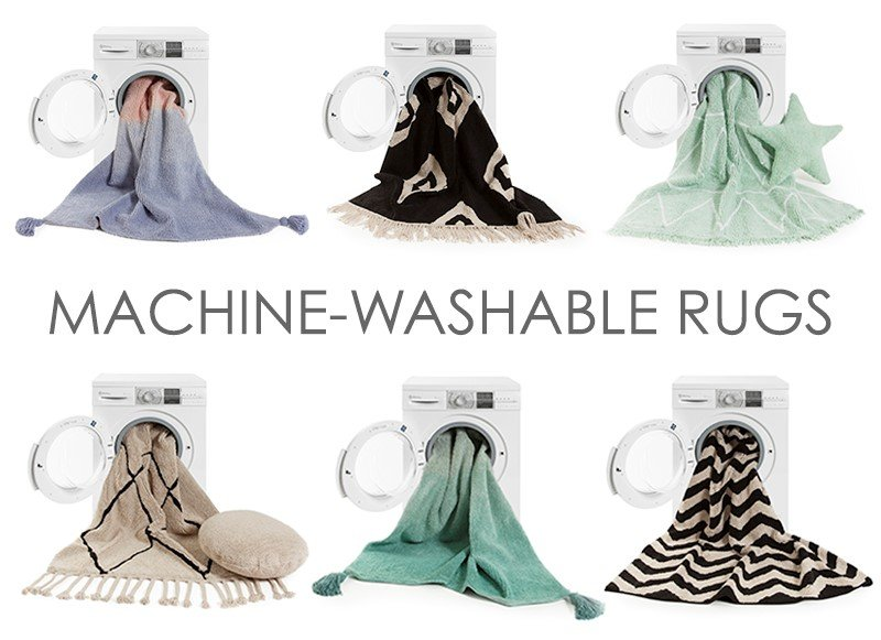 alfombra en lavadora