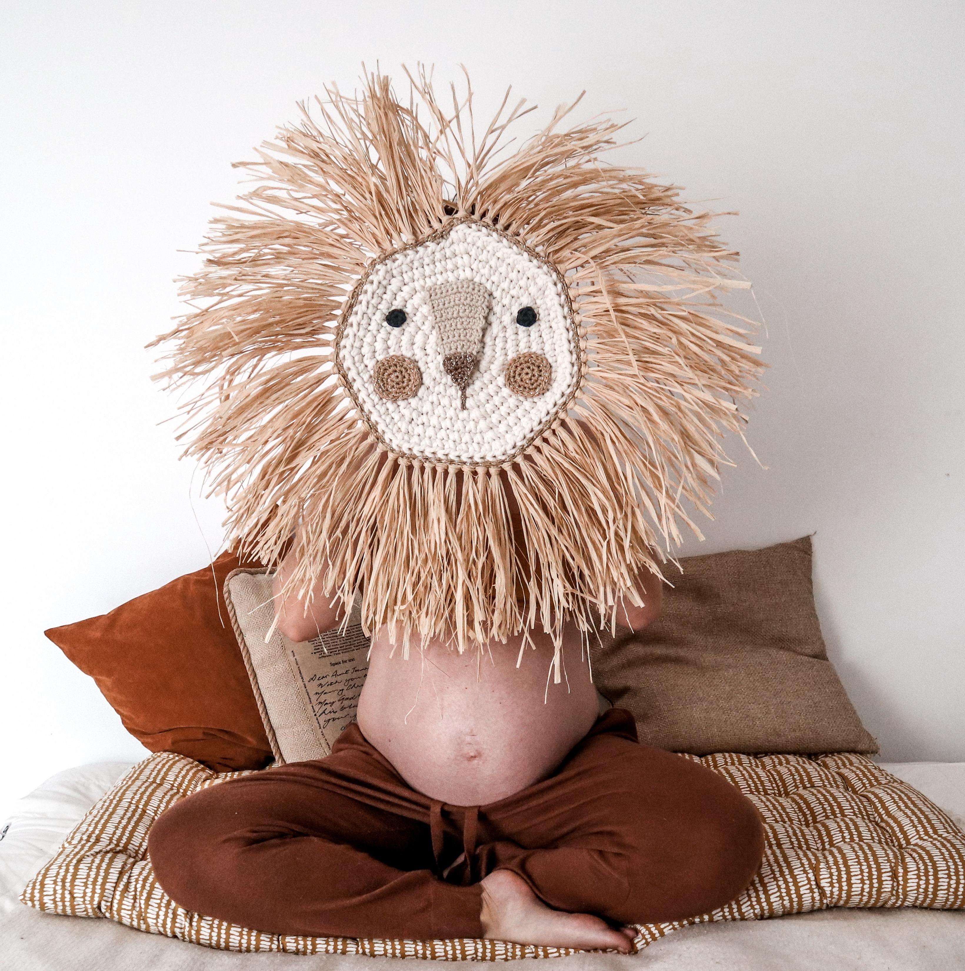 Leon de crochet hecho a mano navidad 2019
