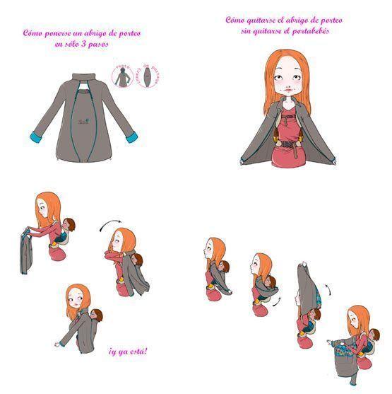 Poner abrigo porte 3 pasos