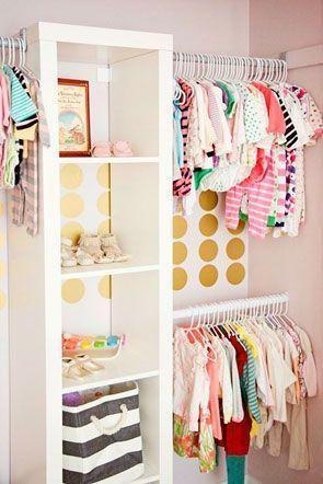barras de armario para el bebé